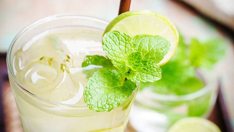 Kilo Verdiren Buzlu Yeşil Çay Tarifi